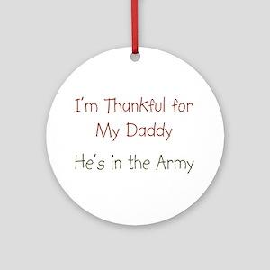 Army Daddy Ornament (Round)