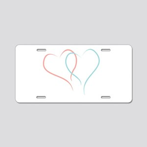 Twin Hearts™ by Leslie Harlow Aluminum License Pla