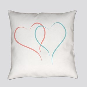 Twin Hearts™ by Leslie Harlow Everyday Pillow