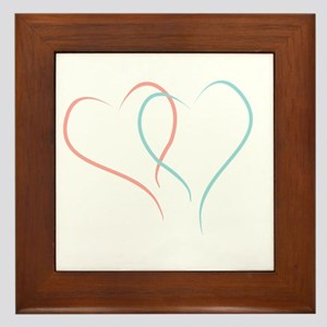 Twin Hearts™ by Leslie Harlow Framed Tile