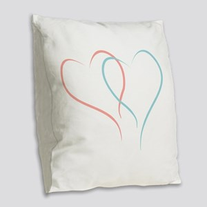Twin Hearts™ by Leslie Harlow Burlap Throw Pillow