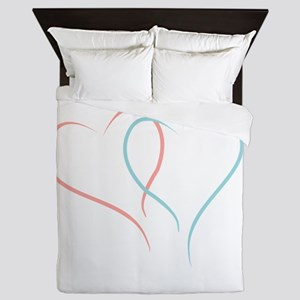 Twin Hearts™ by Leslie Harlow Queen Duvet