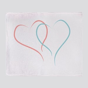 Twin Hearts™ by Leslie Harlow Throw Blanket