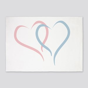 Twin Hearts™ by Leslie Harlow 5'x7'Area Rug