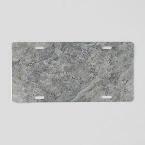 SILVER TRAVERTINE Aluminum License Plate