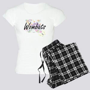 Wombats artistic design wit Women's Light Pajamas
