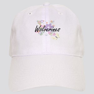 Wolverines artistic design with flowers Cap