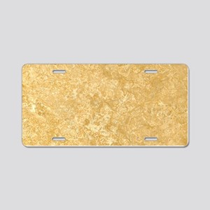 NOCE TRAVERTINE Aluminum License Plate
