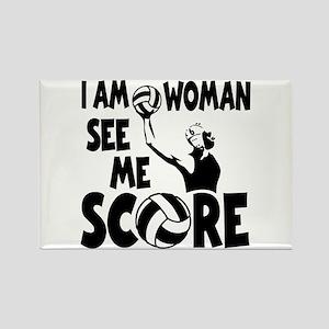 I AM WOMAN Rectangle Magnet