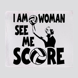 I AM WOMAN Throw Blanket