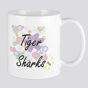 Tiger Sharks artistic design with flowers Mugs