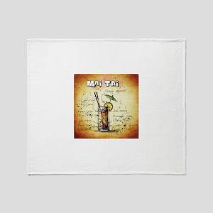 Mai Tai (Brown) Throw Blanket