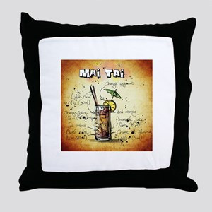 Mai Tai (Brown) Throw Pillow