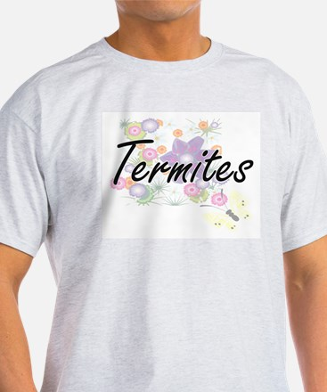 Termites artistic design with flowers T-Shirt