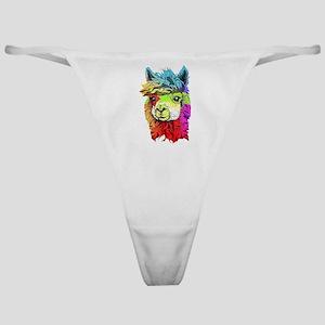 Color Me Alpaca Classic Thong