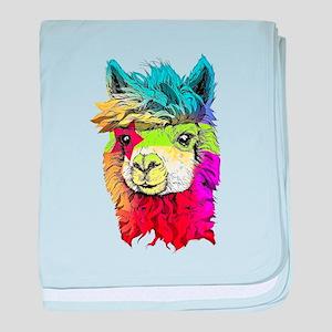 Color Me Alpaca baby blanket