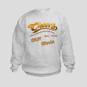 Cliff Clavin and Cheers Logo Kids Sweatshirt