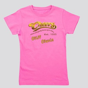 Cliff Clavin and Cheers Logo Girl's Tee