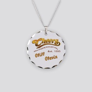 Cliff Clavin and Cheers Logo Necklace Circle Charm