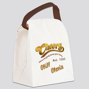 Cliff Clavin and Cheers Logo Canvas Lunch Bag