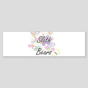 Sloth Bears artistic design with fl Bumper Sticker