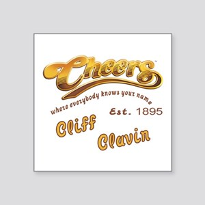 Cliff Clavin and Cheers Logo Sticker