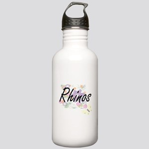 Rhinos artistic design Stainless Water Bottle 1.0L