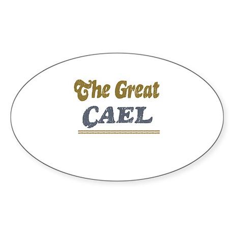 Cael Oval Sticker