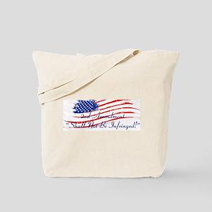 2nd Amendment American Flag Tote Bag