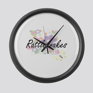 Rattlesnakes artistic design with Large Wall Clock