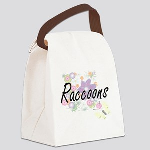 Raccoons artistic design with flo Canvas Lunch Bag