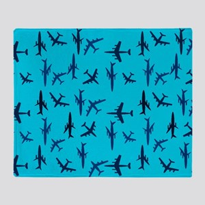 Flight Blue Throw Blanket