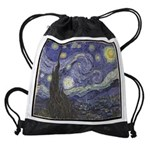 VanGogh-starry_night Drawstring Bag