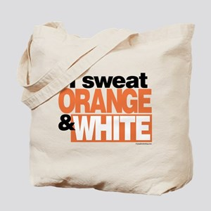 I Sweat Orange and White Tote Bag