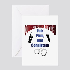 Corrections Officer 3 Card Greeting Cards