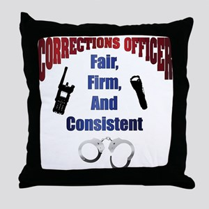 Corrections Officer 3 Throw Pillow