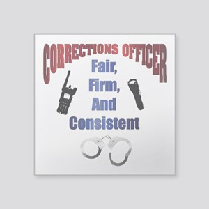 "Corrections Officer 3 Square Sticker 3"" X 3&q"