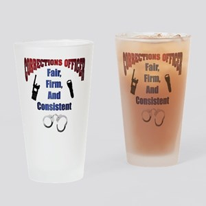 Corrections Officer 3 Drinking Glass