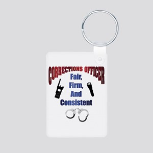 Corrections Officer 3 Aluminum Photo Keychains