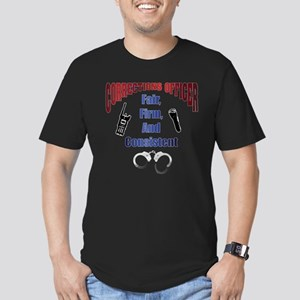 Corrections Officer 3 Men's Fitted T-Shirt (dark)