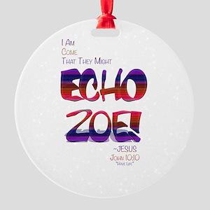 Echo Zoe by Tasha Dillon Round Ornament