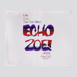 Echo Zoe by Tasha Dillon Throw Blanket