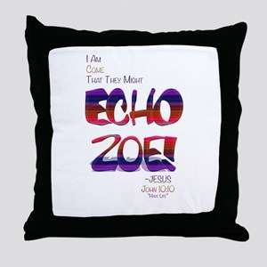 Echo Zoe by Tasha Dillon Throw Pillow