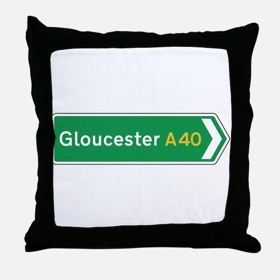 Gloucester Roadmarker, UK Throw Pillow