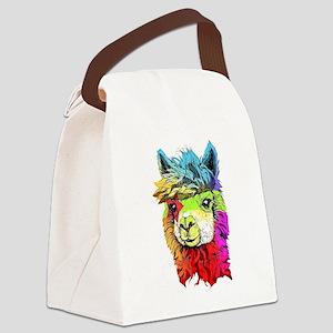 Color Me Alpaca Canvas Lunch Bag