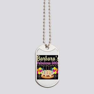 FABULOUS 50TH Dog Tags