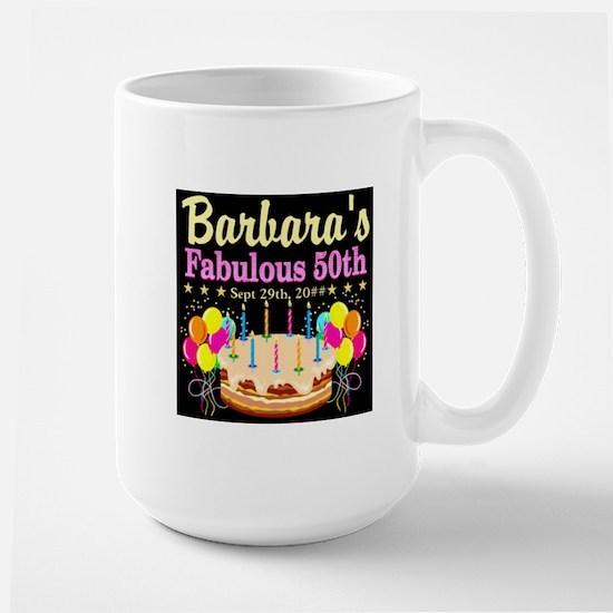 FABULOUS 50TH Large Mug