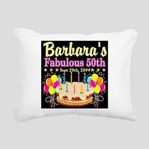 FABULOUS 50TH Rectangular Canvas Pillow