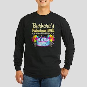 FABULOUS 50TH Long Sleeve Dark T-Shirt