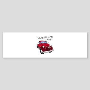Classic Car Crazy Bumper Sticker